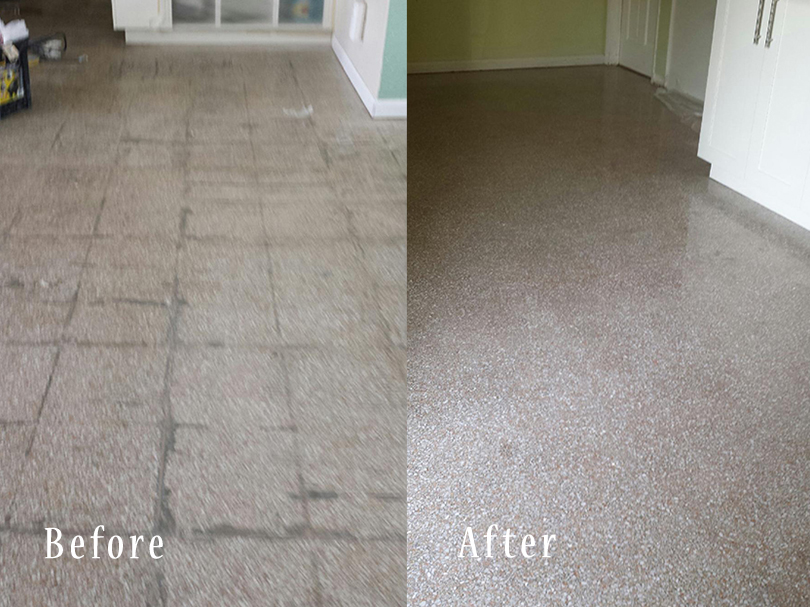 The Facade Of The Terrazzo Floor Restoration In Palm Beach - How to care for terrazzo floors
